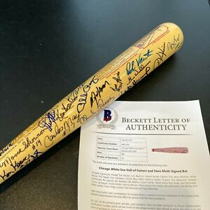 Chicago White Sox HOF & Legends Signed Bat 43 Signatures Bo Jackson Beckett COA