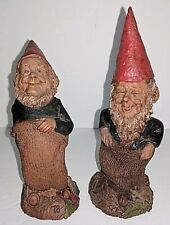 Vtg Pair Dem & Rep '87 potato sack race gnomes Thomas Clark Democrat Republican