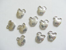 15 Apple Charms, Fruit Charm Pendants - 11mm, Metal Antique Silver