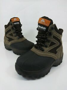 OZARK TRAIL YOUTH EAGLE 09 Thinsulate Winter Boot Leather Boys Sz 2 Brown/Black