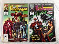 Marvel Comics Knights of Pendragon  #1 #2. 1992 Co-Starring Iron Man
