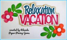 SUMMER VACATION title paper piecing for Premade Scrapbook Page DIE CUT by Rhonda