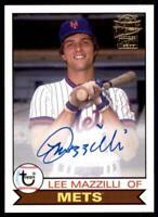 2020 Archives Fan Favorites Auto #FFA-LMA Lee Mazzilli - New York Mets