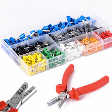 Crimp Tool Kit Ferrule Crimper Plier +800 Electrical Wire Connector Terminal