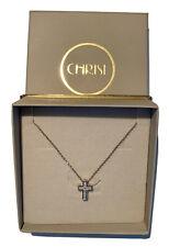 Christ Weißgold 333 Kette mit Kreuz und Diamanten, 45 cm. Neu, ungetragen.