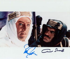 Lawrence of Arabia (Peter O'Toole & Omar Sharif) in-person signed 8x10 photo