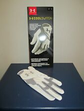 UNDER ARMOUR COOL SWITCH WHITE GRAY TRIM GOLF GLOVE MENS SIZE LEFT - M NEW