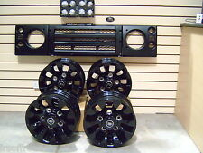 LAND ROVER DEFENDER BLACK UPGRADE KIT, LED LAMPS, SAWTOOTH WHEELS AND GRILL KIT