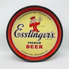 "Vintage Esslinger Premium Beer All Metal Tray Canco ""The Little Man"" Beer"