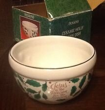 Dicksons Ceremics Holly Candy Dish Never used with Box.