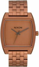 Nixon Women's Time Tracker A12453165-00 37mm Brown Dial Stainless Steel Watch