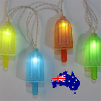 10 LED Ice Cream Battery  String Lights Home Party Wedding Christmas Decorate ON