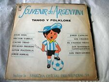 SOUVENIR ARGENTINA 78 LP TANGO FOLKLORE SPECIAL EDITION FIFA