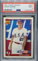 Jason Giambi 1991 Topps Traded  #45T (Team USA) PSA 9  MINT (Matte)