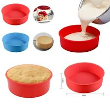 UK 7 inch Silicone Round Cake Pan Non-stick Tins Tray Bakeware Mould Baking