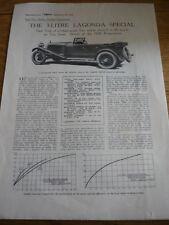 LAGONDA 3 LITRE SPECIAL ROAD TEST BROCHURE 1929 /30 jm