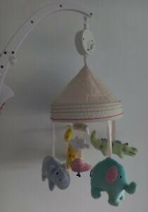 Jungle Baby Cot Mobile Jungle  Theme Wind Up musical