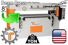 "NEW!! CJRTec 30 Ton 8"" Wide Opening Beam Clicker Press Die Cutting Machine"