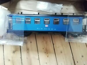 NEW G SCALE 45mm GAUGE RAILWAY PASSENGER CARRIAGE BLUE GARDEN COACH TRAIN