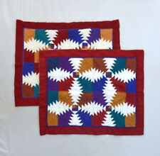 """Matching Set Southwestern Patchwork Quilt Indian Blanket Pillow Sham Covers 29"""""""