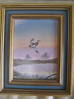 GARY AMPEL BIRD PARTRIDGE WILDLIFE NATIVE AMERICAN SIGNED LISTED OIL PAINTING