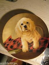 """Erwin Knowles 1988 """"Shirt Tales - The Cocker Spaniel"""" Collector Plate by L. Katz"""