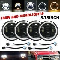 """4Pcs for Chevy GMC Corvette 5-3/4"""" 5.75"""" Dot LED Projector Headlights Sealed DRL"""