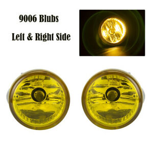 Pair Yellow Front Driving Fog Lights Lamps Assembly For Toyota Prius 04-09