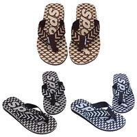 NE_ Men's Summer Sport Dot Print Indoor Slippers Outdoor Flip Flops Beach Sandal