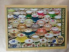 "Cobble Hill 1000 piece jigsaw puzzle ""Teacups"""