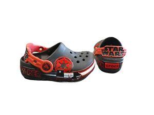 Crocs Light Up Star Wars Kids Darth Vader Black & Red Size C7. Youth 7 lights Up