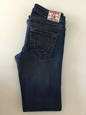 "True Religion Mujeres'S Jeans W27"" L28"" Johnny Stretch Slim Pierna"