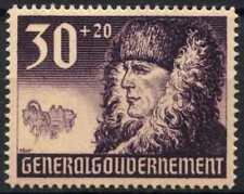 Poland German Occupation 1940 SG#415, 30g + 20g Fur Capped Peasant MH #E3410