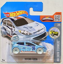 HOT WHEELS 2016 HW SNOW STORMERS '12 FORD FIESTA #2/5 SHORT CARD