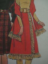 Vintage 60's Butterick 6328 DRESS w/ FRINGE & STOLE Sewing Pattern Women