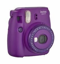 Fujifilm Instax Mini 9 Clear Accent Purple Instant Camera | Polaroid Film Camera