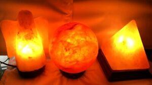 HIMALAYAN PINK SALT BIG PYRAMID | GLOBE | ANGEL ROCK LAMP NATURAL HEALING