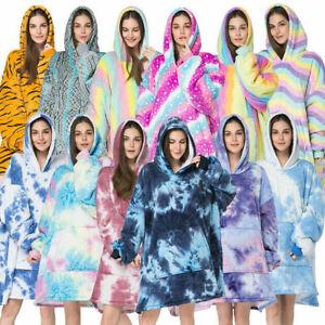 FIL Oversized Hoodie TV Blanket Oodie Plush Warm Big Fleece Soft Winter Pullover