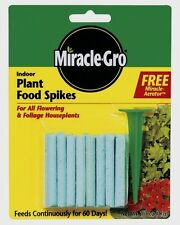 >>24pk MIRACLE GRO Indoor Flowering Foliage Plant Food Spikes 6-12-6 Scotts NEW!