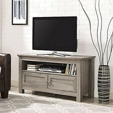 WE Furniture W44CSAG Walker Edison 44 inches Cortez TV Stand Console- Driftwood