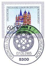BRD 1985: Limburg dom nº 1250 con el bonner primero etiquetas-sello especial! 1a! 157