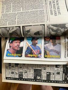 July 1990 Baseball Cards Magazine w/ Ken Griffey Jr., Bo Jackson, Jose Canseco