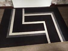 Arte Espina Optical Art rug Black 4071-68 170cm x 240cm Brand new RRP over £300