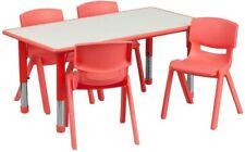 Rectangular 23x47 Red Activity Table Set New