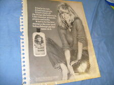 Farrah Fawcett, Charlie's Angels Shampoo Full Page Vintage Print Ad + other /a7