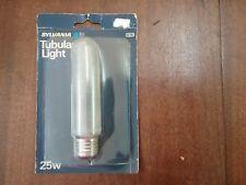 PICTURE light BULB 25T10 tube lite 25 watt FROST 25w tubular T10 incandescent