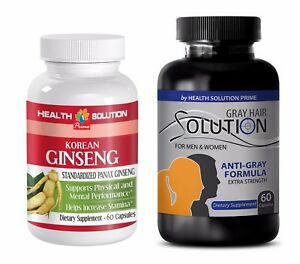 Libido organic - ANTI GRAY HAIR – KOREAN GINSENG COMBO - red maca root pills