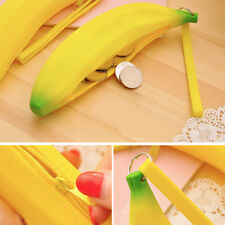 Novelty Silicone Portable Banana Coin Pencil Case Purse Bag Wallet Pouch Funny