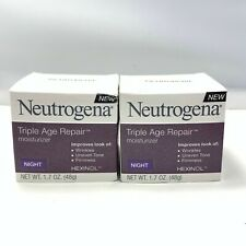 Neutrogena Triple Age Repair Anti-Aging Night Face Moisturizer 1.7oz LOT OF 2