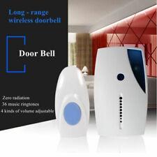 50-100M 36 Songs Chimes Wireless Door Bell Cordless Receiver Control Doorbell